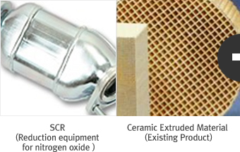 SCR (Reduction equipment for nitrogen oxide ) / Ceramic Extruded Material (Existing Product)